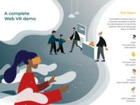 AR/VR Weather Demo Booth: Illustration