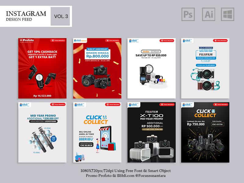 Social Media Post vol. 3 @Focusnusantara ads design ads desain design adobe illustrator adobe photoshop instagram banner instagram feed instagram post instgram