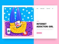 Internet addiction girl