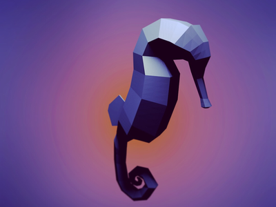 Low poly Seahorse