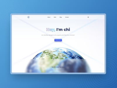 Web-block | Hero homepage clean ui clean design clean blue frosted glass glass web design ui website design ui design hero section hero banner