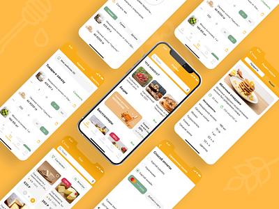ФерМаг - приложение по доставке фермерских продуктов delivery app ui design ux design mobile app marketplace