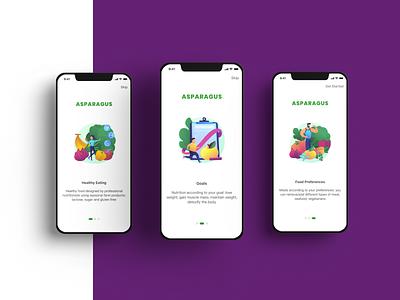 ASPARAGUS Delivery App mobile design mobile app delivery app ux design ui design