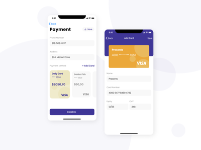 Add a Card at Payment App ui payment app mobile app uxuidesign appdesign uidesign