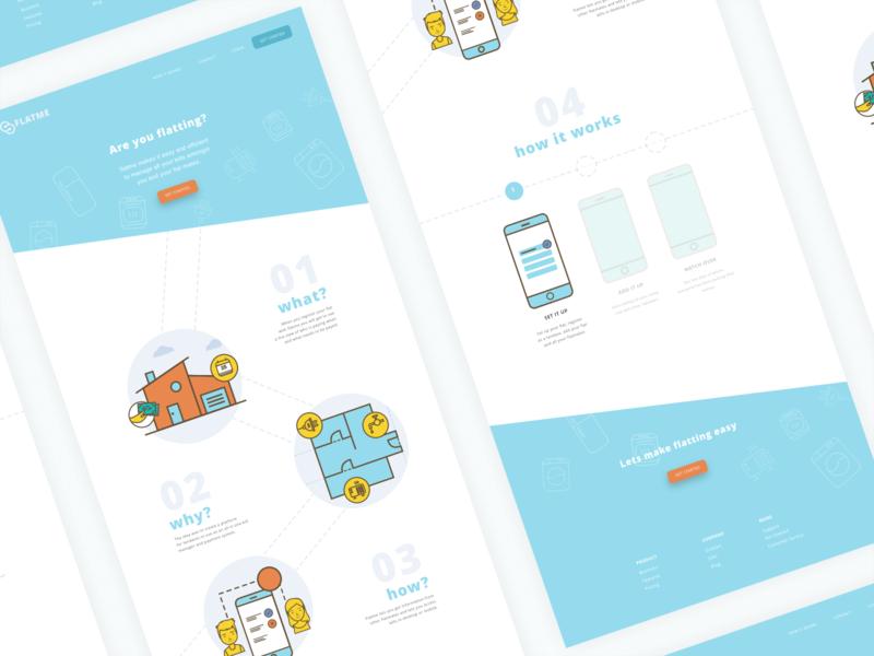 Flatme Concept Landing Page