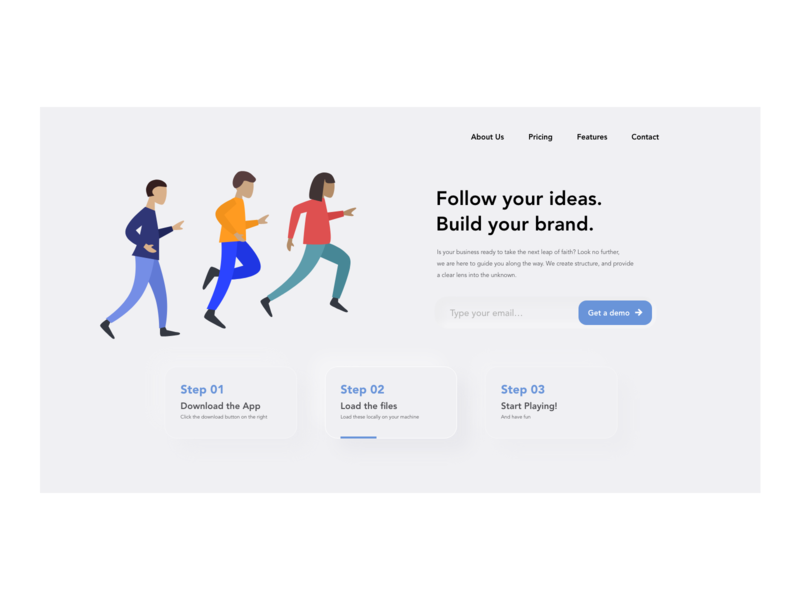 Concept Landing Page for Business