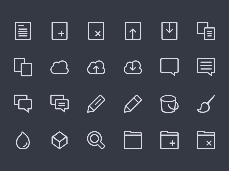Line icons preview