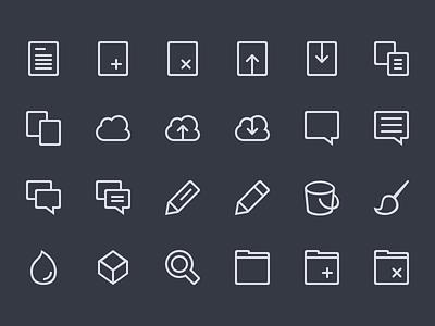 Icon Set WIP icon-set 64x64 32x32 line lines icons creativemarket work-in-progress