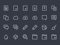 Icon Set WIP icon-set 64x64 32x32 line lines icons creativemarket work-in-progress