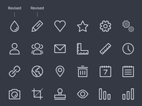 Line Icons WIP (Batch #2) 64x64 32x32 creativemarket set icons icon line lines