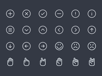 Line Icons WIP (Batch #)3  lines line icon icons set creativemarket 32x32 64x64