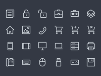 Line Icons WIP (Batch #4) 64x64 32x32 creativemarket set icons icon line lines