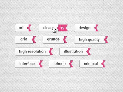 Sliding Tags art clean design element grid grunge high illustration interface iphone minimal photoshop psd quality resolution slider sliding tag tags vector web