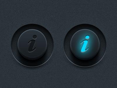Vector Info Buttons (PSD) vector info buttons information psd photoshop detailed art design button web website element ui user interface dark
