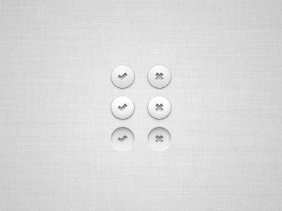 Vector UI Buttons (PSD) active button buttons cross design element hover interface normal photoshop psd tick ui user vector web
