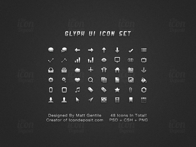 Glyph UI Icon Set website vector ui tick set search resource psd png pixel photoshop iphone ipad icons icon glyphs glyph freebie free design cursor csh comments bucket app airplane 16x16