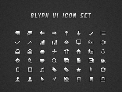 Glyph ui icon set   dribbble