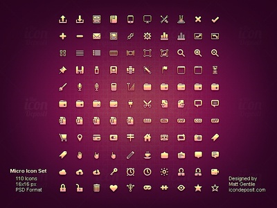 Micro Icon Set icon icons set freebie vector photoshop psd free resource vectors detail pixel glyph 16x16 micro ui user interface