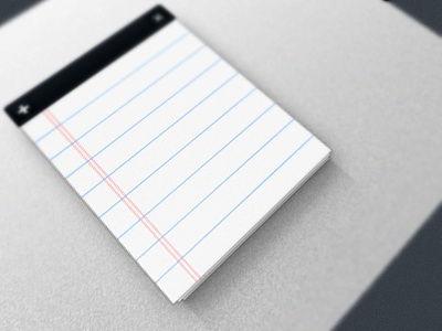 Notepad note pad ui ux design vector photoshop cross add paper
