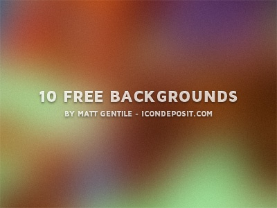 10 Free Backgrounds background backgrounds blur blurred color colors dribbble free freebie object resource vector psd photoshop jpeg 1600x1200