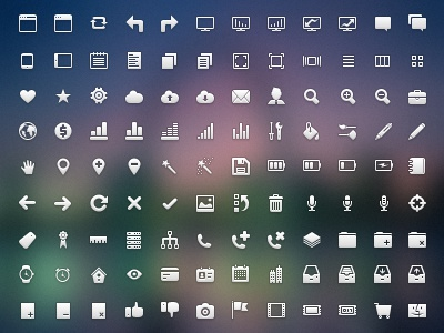 Crisp Icon Set retina png 16x16 32x32 48x48 app application clean crisp design developer free freebie interface photoshop pixel psd resource ui user ux vector web website icon icons set