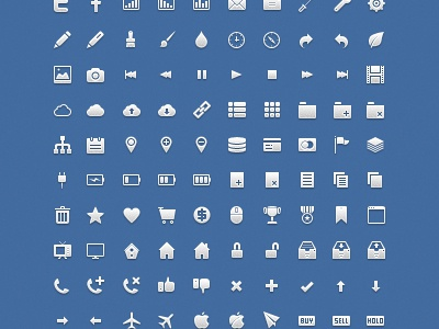 Application icon set   preview