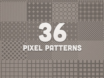 36 Pixel Patterns photoshop background free freebie .pat pattern pixel psd resource vector