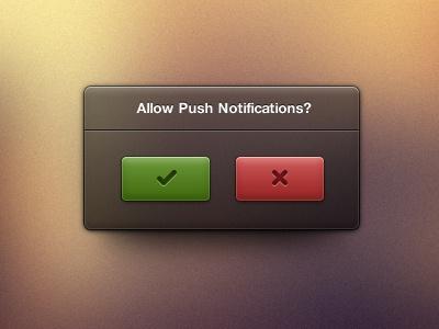 Push Notification UI free freebie resource vector photoshop psd ui ux gui design user interface push notification yes no tick cross