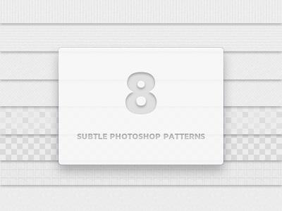 8 Subtle Photoshop Patterns photoshop pattern design free freebie psd resource pat vector background subtle clean light white noise lines transparent patterns pixel grey gray