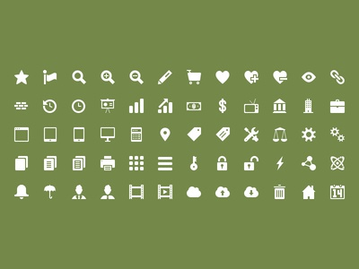 32x32 Icon Set Preview creativemarket icon icons business psd vector photoshop design 16x16 32x32 48x48 64x64