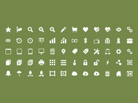 32x32 Icon Set Preview creativemarket icon icons business psd vector photoshop design 16x16 32x32 48x48 64x64