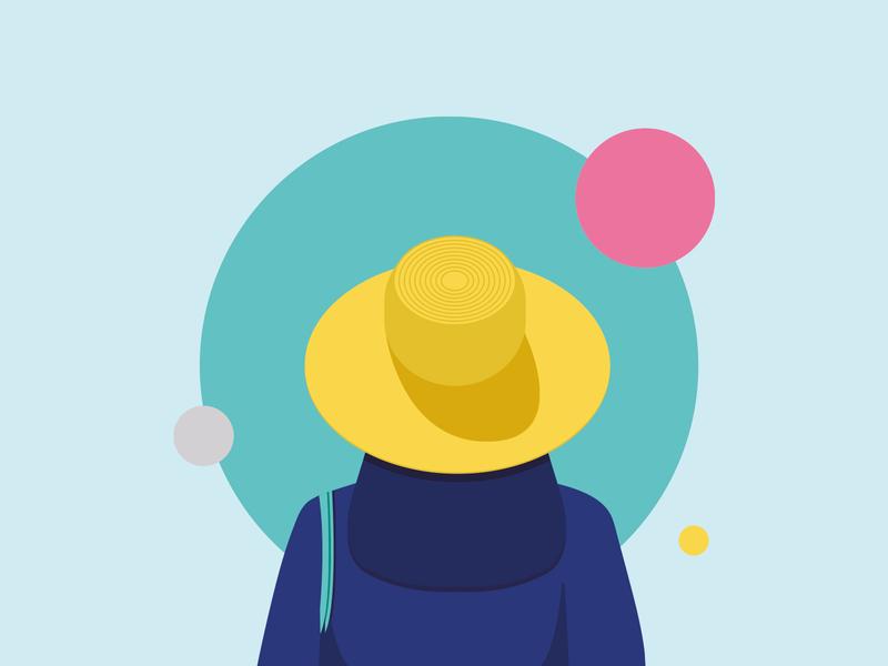Summertime 🌞 illustration art graphic design character summertime summer minimal fashion minimalist women illustraion