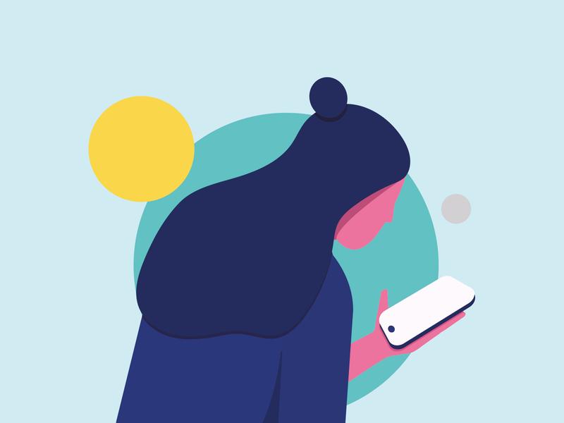 inside home 🏠  inside phone 📱 illustraion illustration art summer character minimalist graphic design fashion minimal