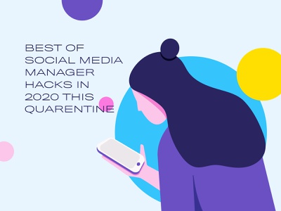 Medium Article Illustration 1 ui typography web flat wfh scrolling social media mobile women character illustration art graphic design fashion vector branding illustration graphic minimalist design minimal