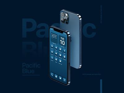 iOS 14 app icon set iphone 12 pro ui design ios app design ios grid design ui minimalist ios2020 pacific blue iphone12 apple branding graphic minimal ios design ios app