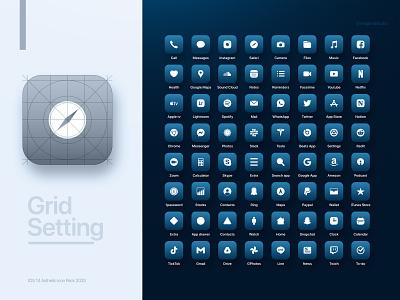 iOS 14 aesthetic app icon all preview apple guidelines ios2020 pacific blue iphone12 apple design apple icon set iconography icon design icon ios14homescreen ios14 minimalist branding minimal graphic ui design