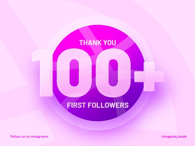 First 100 Followers😊 dribble shot dribbble best shot minimalist graphic design followers 100 logo design ui design app design icon illustration typography fashion logo graphic branding design minimal