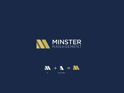 minster management logo branding and identity logo designer logodesign graphic icon typography textlogo best logo branding logo minimalist design minimal