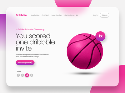Dribbble Invite 1x giveaway (expired) website app typography ux graphic design ui design landing page fashion giveaway hello player invite dribbble invite branding web design graphic design minimalist ui minimal