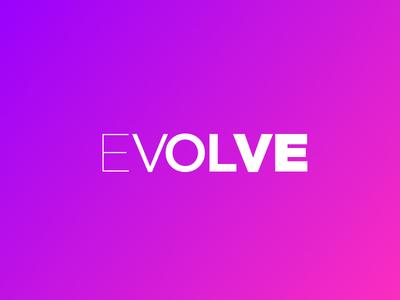 Evolve 1 word word logo bats play graphic design logo minimal textlogo vtp visula text project best logo
