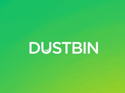 Dustbin minimalist art direction play graphic design logo minimal textlogo vtp visula text project best logo
