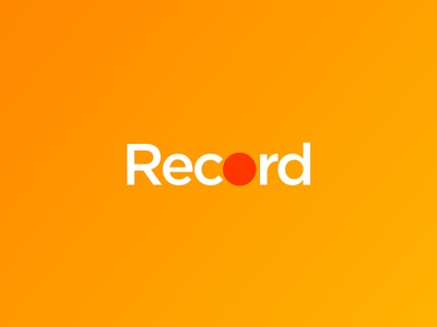 Record minimalist art direction play graphic design logo minimal textlogo vtp visula text project best logo