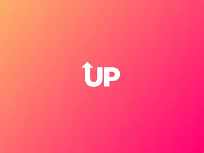 Up minimalist art direction play graphic design logo minimal textlogo vtp visula text project best logo