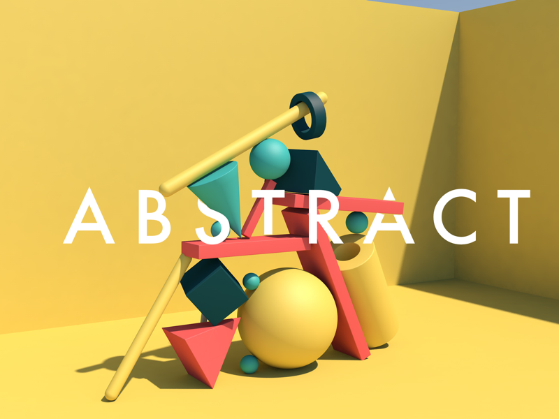Abstract shapes render soft colour c4d materials vinyl material minimalist design abstract 3d graphic cinema 4d