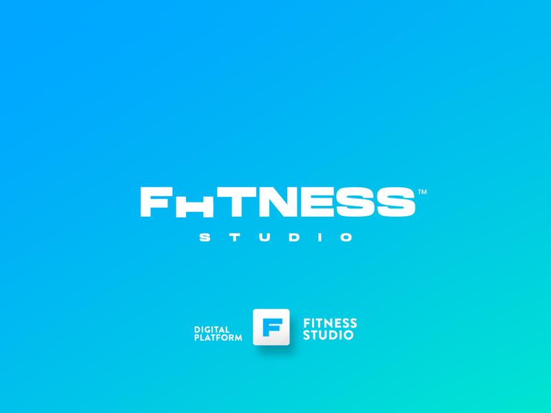 fitness studio textlogo best logo logo design illustration ui vector minimalist graphic minimal