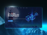 Concept of a landing page for crypto