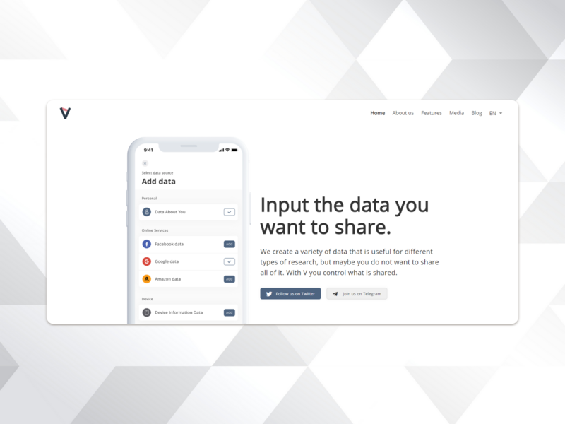 Application landing page ui website web minimal flat design