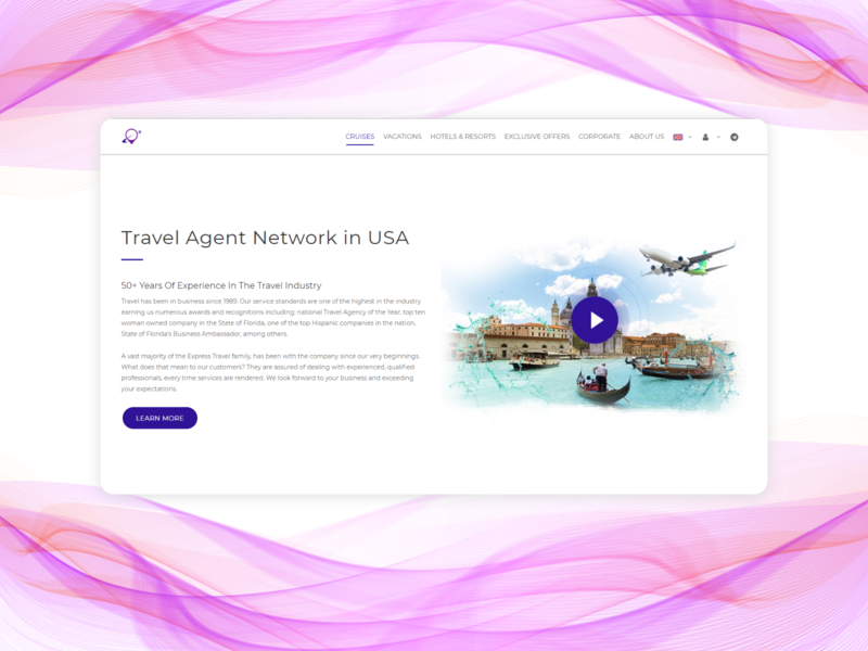 Landing page for a travel agency ui website web minimal flat design