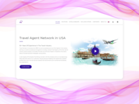 Landing page for a travel agency