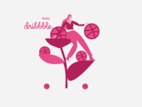 Dribbble Flowers Love